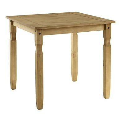 Corona Solid Pine Wood Square 2 Seater Dining Table