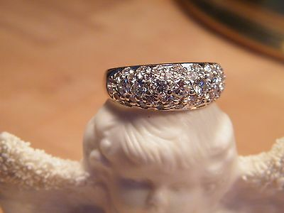 Diamond Dome Ring 1.97 Carats, Cocktail Ring