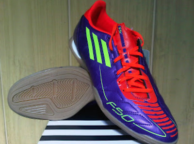 Adidas Mens F10 Indoor Football Trainers - New Light Breathable Court Shoe F-50