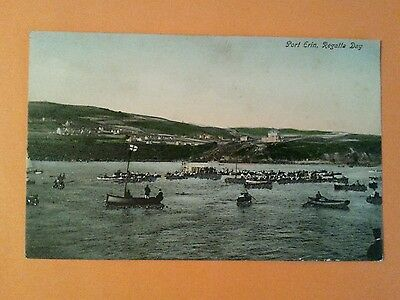 Early  Vintage Port Erin Regatta Day Isle Of Man Spaldrick Colour Manx Iom
