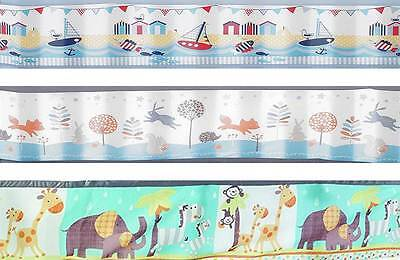 Breathable Baby TWO SIDED MESH LINER PATTERN Infant Cot Bumpers Nursery - BN