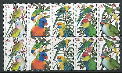 Australian Stamps: 2005 Tropical Birds - 2 Sets of 5