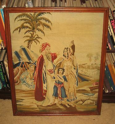 A Vintage Tapestry : The Expulsion Of Hagar And Ishmael