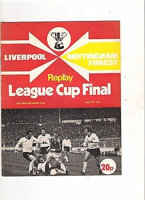 1978 League Cup Final Replay---Liverpool v Nottingham Forest