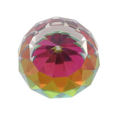 Small Faceted Rainbow Ball 6cm Tall In Diameter With Display Box