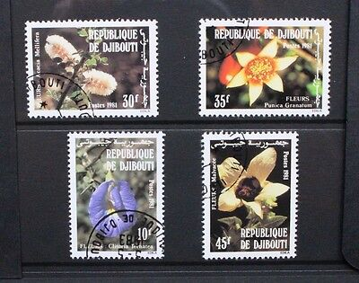 DJIBOUTI 1981 Flowers. Set of 4. Fine USED/CTO. SG831/834.