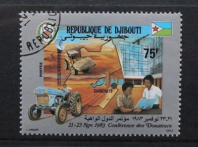 DJIBOUTI 1983 Donors Conference Tractor. Set of 1. Fine USED/CTO. SG892.