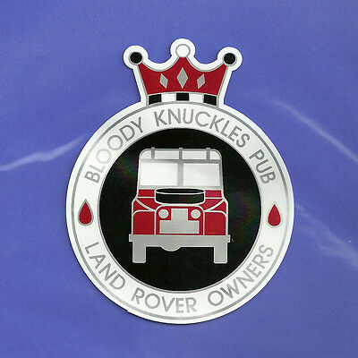LAND ROVER Series Defender Range Discovery BLOODY KNUCKLES PUB sticker decal