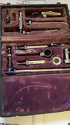 1916 Or 1917 Antique Cammeron Surgical Specialty Company Scopes Sigmoid Throat