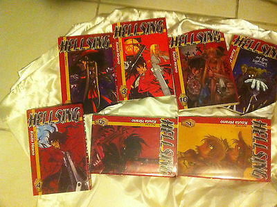 Hellsing manga collection includes  vols  3,4,5, 6 ,7,8 ,10
