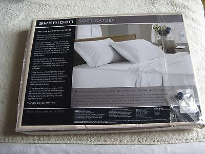 Sheridan sateen cotton flat sheet 400 thread Cnt Double Nude (£41 off-RRP £75)