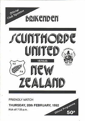 1991/92 Scunthorpe United v New Zealand, friendly, PERFECT CONDITION