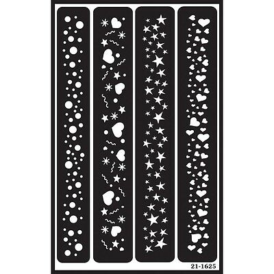Sparkle Border Over 'n' Over Glass Etching Stencil - Armour N Borders Reusable