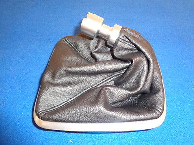 GENUINE FORD Mondeo Leather Gear Stick Lever Gaiter and Silver Bezel 2007 - 2014