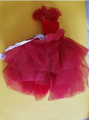 vetement barbie robe rouge noel 1989 happy christmas happy holiday