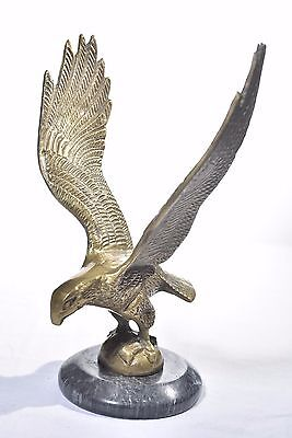 ~ American Eagle Solid Brass On Black Marble Base