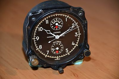 Jaeger LeCoultre Chrono Flite aircraft clocks from United Airlines aircraft