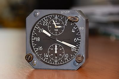 Breitling Wakmann TWA aircraft cockpit clock from Trans World Airlines aircraft