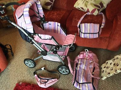 Mamas And Papas Dolls Pram Pushchair,toy,buggy,baby,changing Bag,bum Bag,carrier