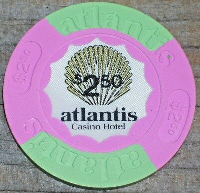 $2.50 1St Issue Chip Atlantis Casino In Atlantic City