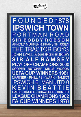 Ipswich Town Fc Poster Print (Framed)