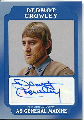 Star Wars Rogue One Mission Briefing Blue Autograph Card Crowley as Gen Madine