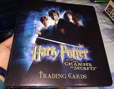 Harry Potter and the Chamber of Secrets Trading Card Binder + Base Set Artbox