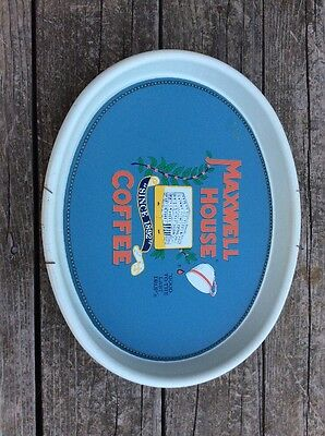 """Vintage- Maxwell House Coffee Tin Serving Tray 15"""" x 12 1/2"""" - Great Cond !!"""