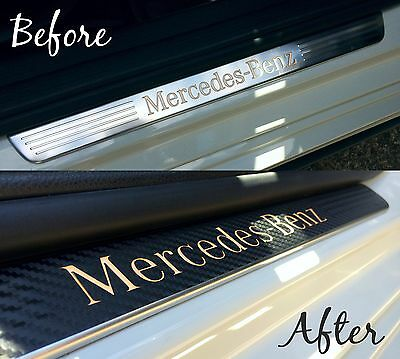 Mercedes A Class / AMG Carbon Effect Vinyl Kick Strip Covers A180 A200 A250 A45