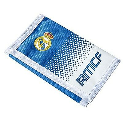 Real Madrid Fade Wallet - Nylon Official Football Fc Club Licensed Money