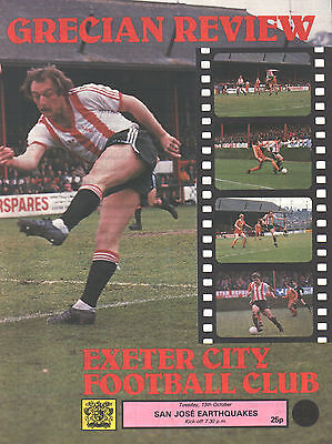 1981/82 Exeter City v San Jose Eathquakes (with George Best), friendly, PERFECT
