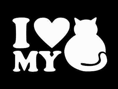 I LOVE MY FAT CAT Vinyl Decal Car Wall Window Sticker CHOOSE SIZE COLOR