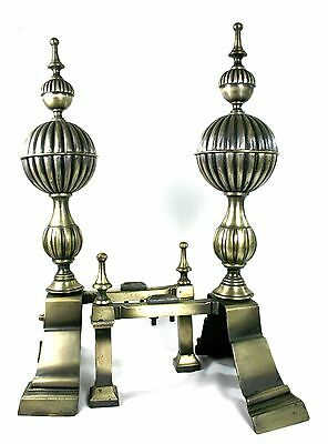 Vintage Large Fire Dogs Andiron Baronial Regency Steam Punk Heavy