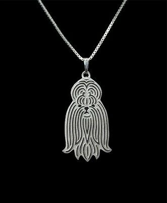 Shih Tzu Dog Pendant Necklace Silver ANIMAL RESCUE DONATION
