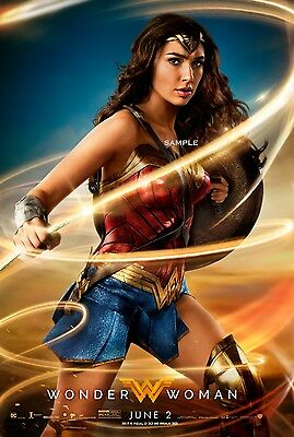 2017 Wonder Woman Movie Poster A3 Print
