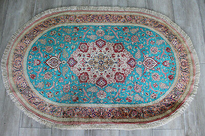 An Outstanding Persian Qum Silk Rug In Great Condition 120 X 75  Cm