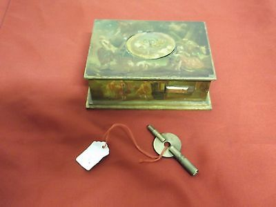 Singing Bird Music Box - Carillon (Vintage,antico,dipinto A Mano) Con Chiave