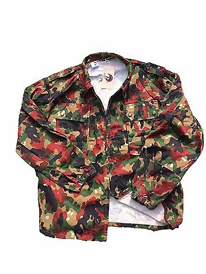 Swiss Army Alpenflage Fatigue Jacket/Heavy Shirt m83, short or long sleeve