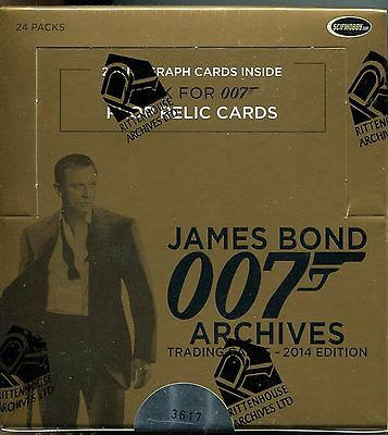 James Bond Archives 2014 Factory Sealed Hobby Box 24 Packs