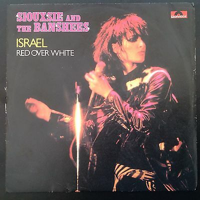 "Siouxsie & The Banshees Israel Very Rare 7"" Italy Pict Sleeve Punk Sex Pistols"