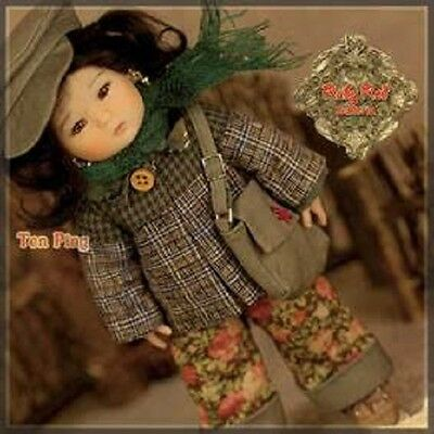 Ha0013A Ten Ping Ruby Red Galleria Nrfb Doll Traditonal Chinese Winter Outfit