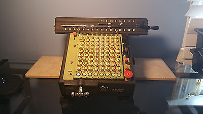 Antique Monroe All-Metal LA5-160 Calculator Adding Machine untested