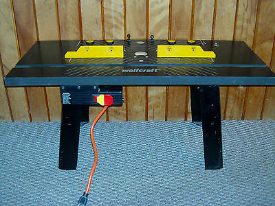 """Pre-owned Wolfcraft Router Table  31-1/2"""" Long 14-1/2"""" Wide 14"""" High w/AC Plug"""