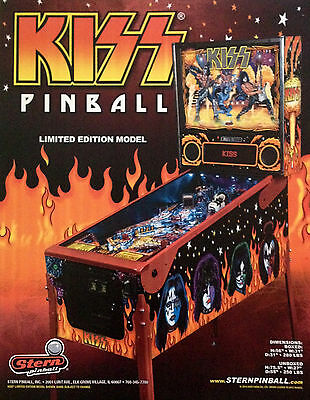 KISS  Limited Edition Model. Stern Pinball. Flipper Coleccionistas.
