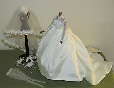Grace Kelly The Bride Barbie Silkstone Fashion Complete Wedding Outfit Ensemble