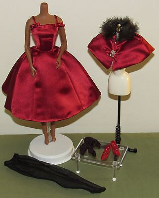 Ravishing in Rouge Barbie Silkstone Fashion Model Complete Outfit Ensemble Only