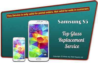 Samsung Galaxy S5 Top Glass Front Screen Replacement Service