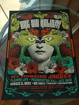 My Morning Jacket OBH Poster One Big Holiday Festival 2014 Status Serigraph MMJ
