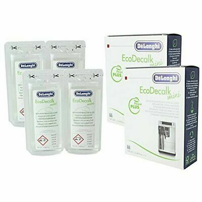 DeLonghi Eco Decalk Natural Coffee Machine Descaler Solution (Pack of 4 x 100 ml