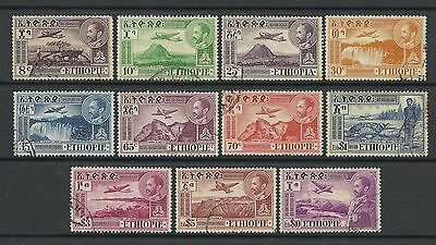 Ethiopia 1947 Air Mail Set With The $10 Used